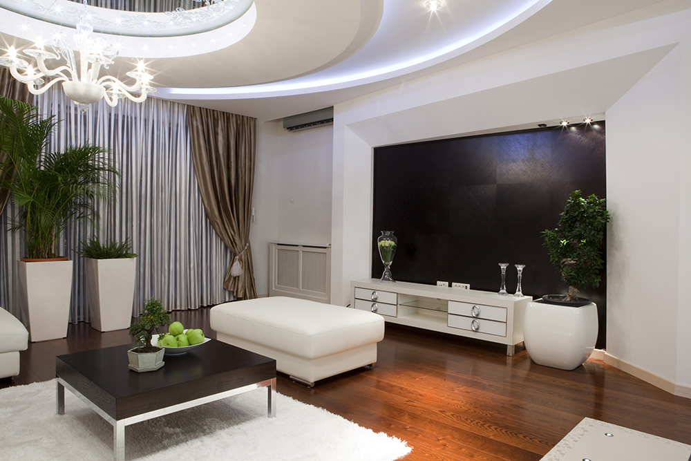 Interior of a modern luxury living room